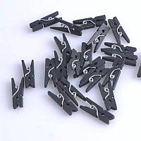 Декоративные черные мини прищепки
