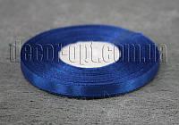 Лента атласная синяя 0,6 см 36ярд 40