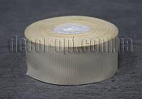 Лента репсовая кремовая 4 см 25 ярд арт.08
