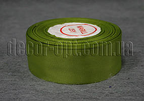 Лента репсовая хаки 4 см 25 ярд арт.95