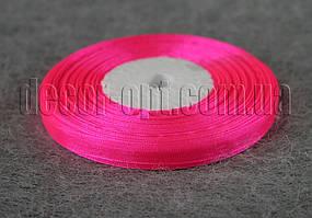 Лента органза ярко-розовая 0,6 см 50ярд 14