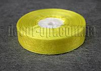 Лента органза желтая 2 см 50ярд 15