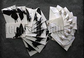 Бабочки бумажные на булавке  6-12 см 12 шт