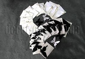 Бабочки бумажные на магните  6-12 см 12 шт