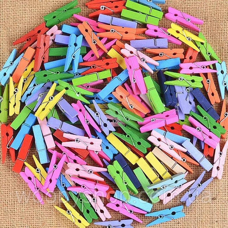 Декоративные цветные мини прищепки