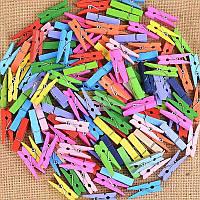 Декоративная цветная мини прищепка