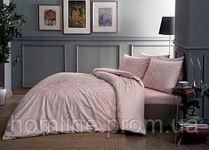 Постельное белье Tac сатин Fabian pembe розовый полуторного размера