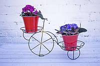 Кованая подставка для цветов Велосипед 2