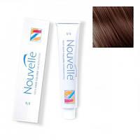 Крем-краска для волос Nouvelle Hair Color 5.35 светло-золотистый коричневый красного дерева 100 мл