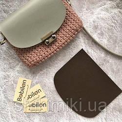 Крышка для сумки из эко-кожи (21*18), цвет шоколадный