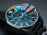Мужские часы Diesel 10 bar с металлическим или кожаным ремешком