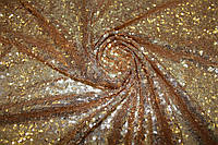 Пайеточная ткань густая Золото