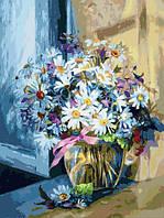 Картина по номерам Белоснежка «Ромашковое утро»30х40 см