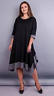 Адажио. Прелестное платье больших размеров. Черный., фото 1
