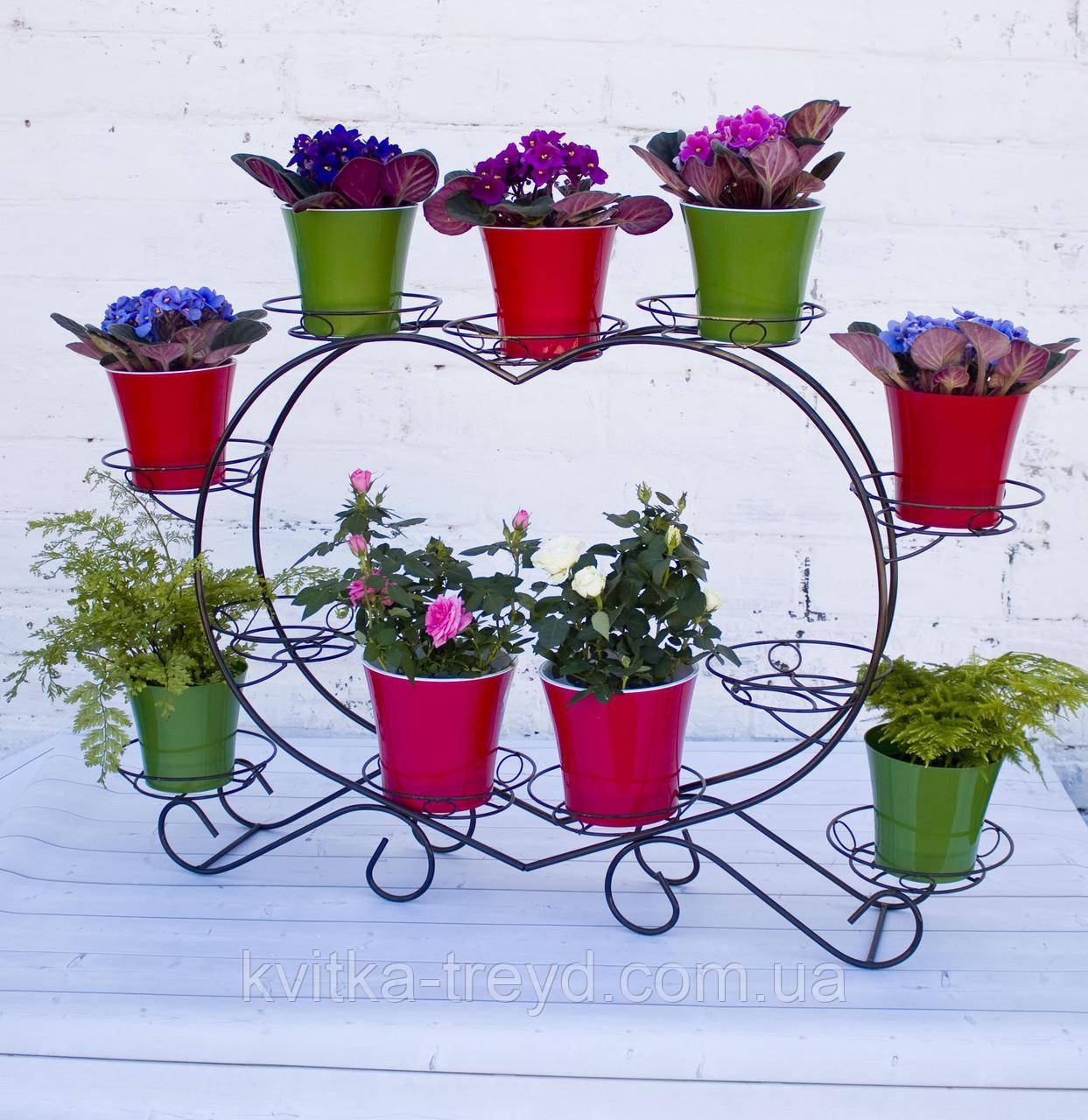 Кована підставка для квітів Серце 11