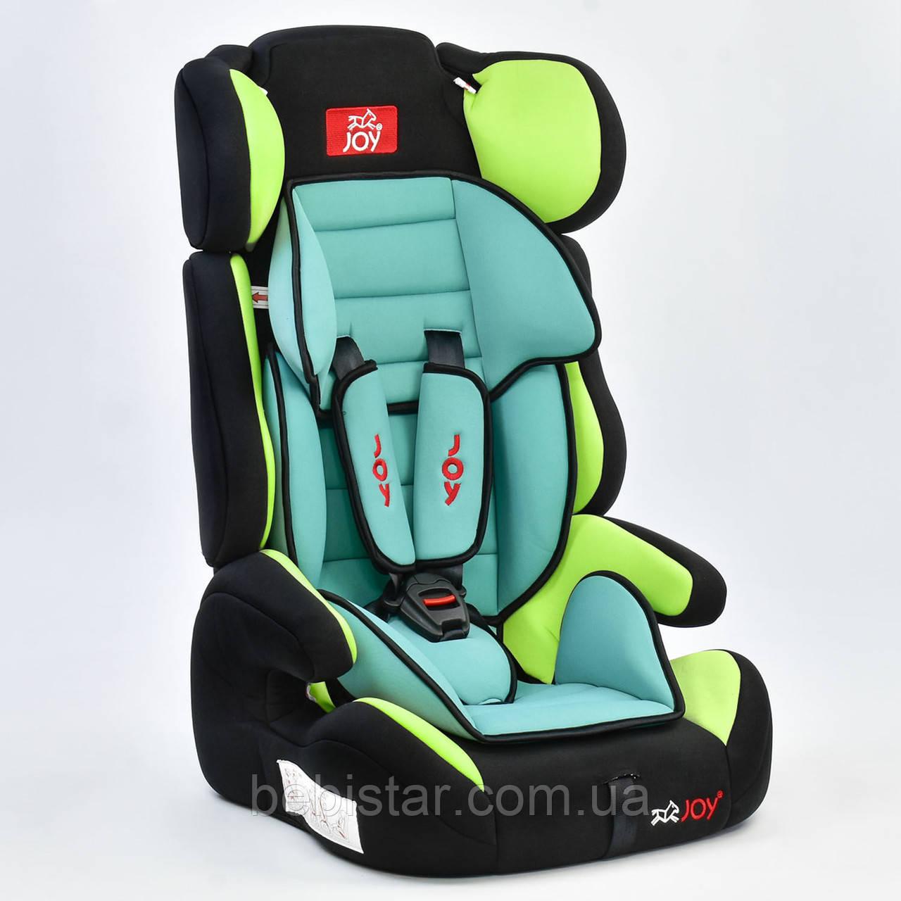 Детское автокресло Joy Е 4445  Цвет чёрно-зелёный 9-36 кг