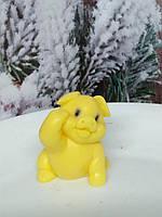 Сувенирное мыло желтая свинья. Вес 80 г. Полезный подарок на новый год 2019