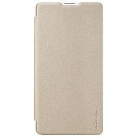 Кожаный чехол (книжка) Nillkin Sparkle Series для Xiaomi Mi Mix 2S Золотой
