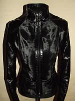 Шикарная кожаная куртка - дубленка с мехом пони р. s-м