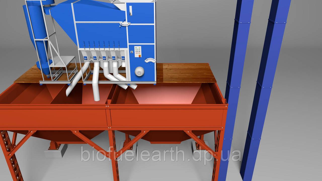 Зерновой сепаратор для очистки зерна САД-150 с циклоном для очистки зерна