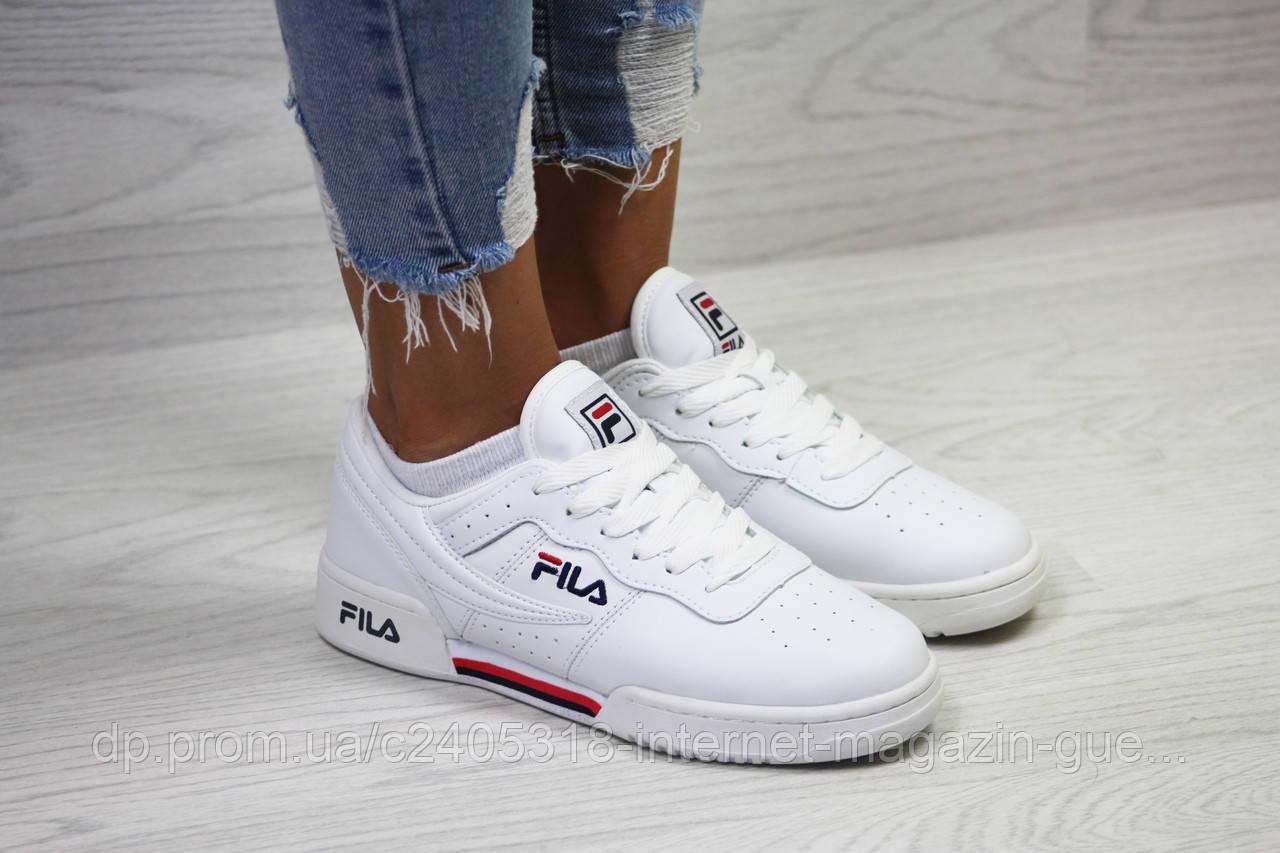 Модные женские белые кроссовки Fila (реплика) eb62f4ba1c6d6