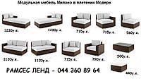 Модуль наружный Милано (87*82*66) левый/правый - мебель для дома, мебель для ресторана, мебель для гостинной