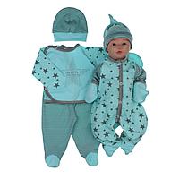 Комплект ясельный для малышей р.56 (ментол)