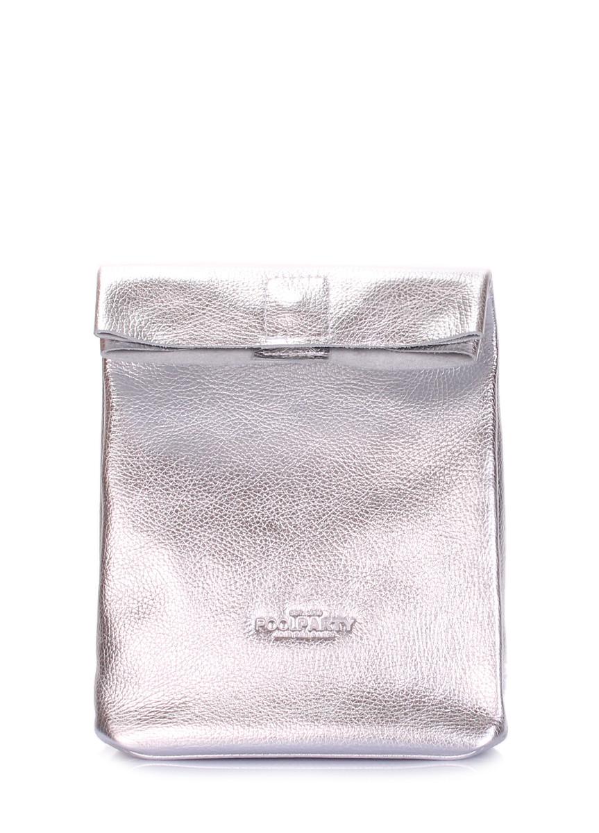 Шкіряна сумка-клатч POOLPARTY Lunchbox