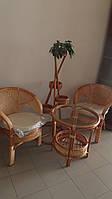 """Комплект мебели:2 кресла+столик, цвет """"коньяк"""""""