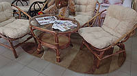 Комплект для отдыха:2 кресла+диван+стол