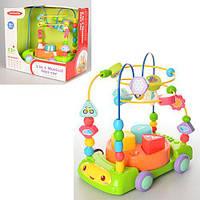 Развивающая музыкальная игрушка-каталка «Лабиринт-сортер» 3 в 1 со светом 23 см Meibeile 01511