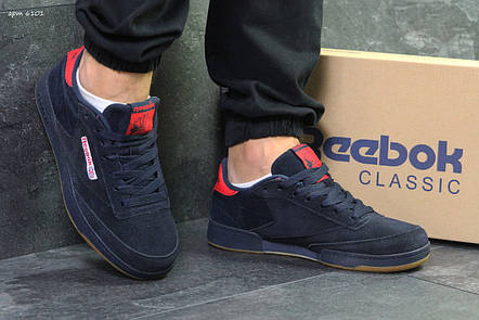 Кроссовки мужские Reebok Workout Classica,темно сині з червоним 42р, фото 2