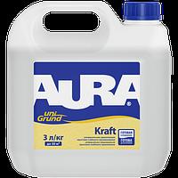 Aura Unigrund Kraft 5 л - Грунтовка глубокого проникновения универсальная укрепляющая, бесцветная
