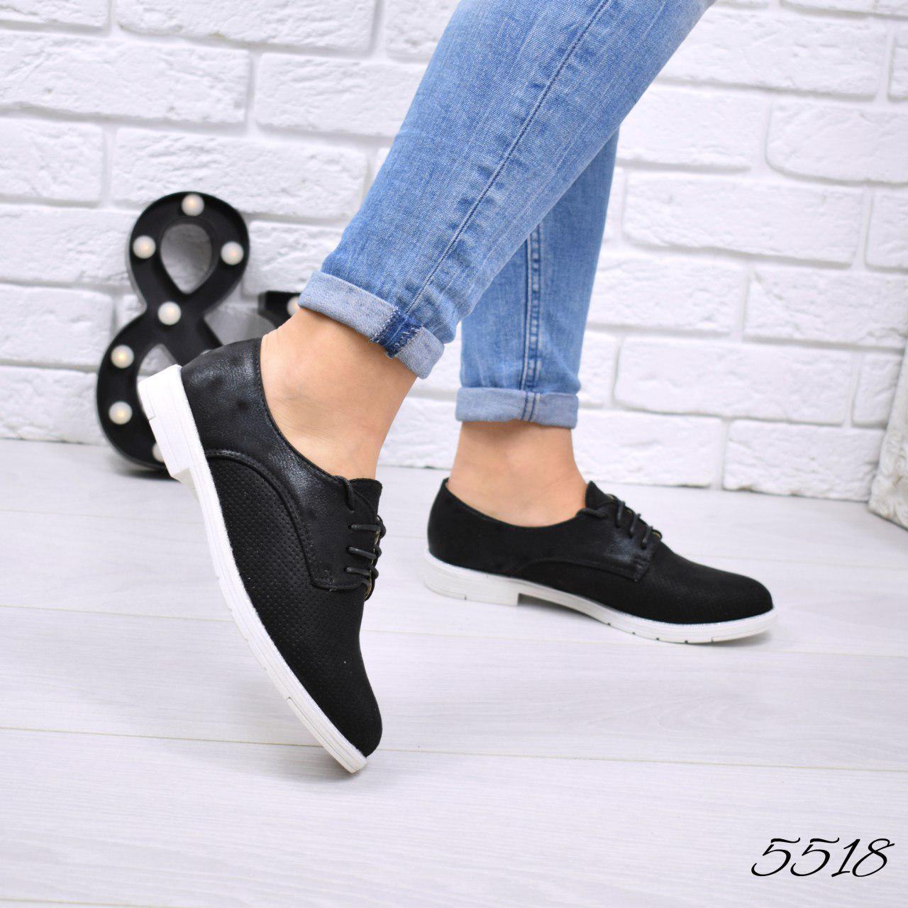 f9cb67084810 Туфли, лоферы женские, на ровном ходу, черные