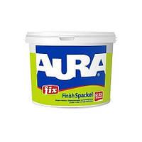 Aura Fix Finish Spackel  Белая 4 кг - Финишная шпатлевка акриловая для стен и потолков, толщина слоя до 2 мм