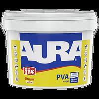 Aura Fix PVA Клей ПВА Белый 2,5 л - после высыхания бесцветный, для склеивания изделий из различных материалов