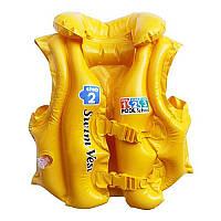 Жилет 58660 (24шт) желтый 3-6 лет