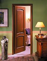 Деревянные двери покрытые натуральным шпоном  древесины