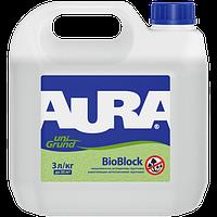Aura Unigrund BioBlock 10 л - Грунтовка акриловая водно-дисперсионная универсальная с антиплесневыми добавками