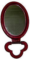 Зеркало  косметическое настольное одностороннее коричневое большое