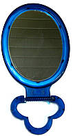 Зеркало  косметическое настольное одностороннее синее среднее