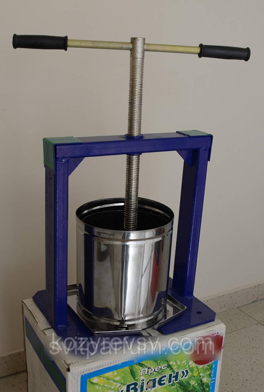 Пресс для сока Вилен-Богатырь на 25 литров(нержавейка,дуб), продам постоянно оптом и в розницу,Харьков