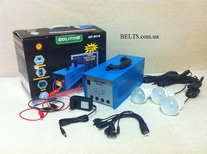 Домашняя солнечная система GDLite GD-8018 - автономное освещение