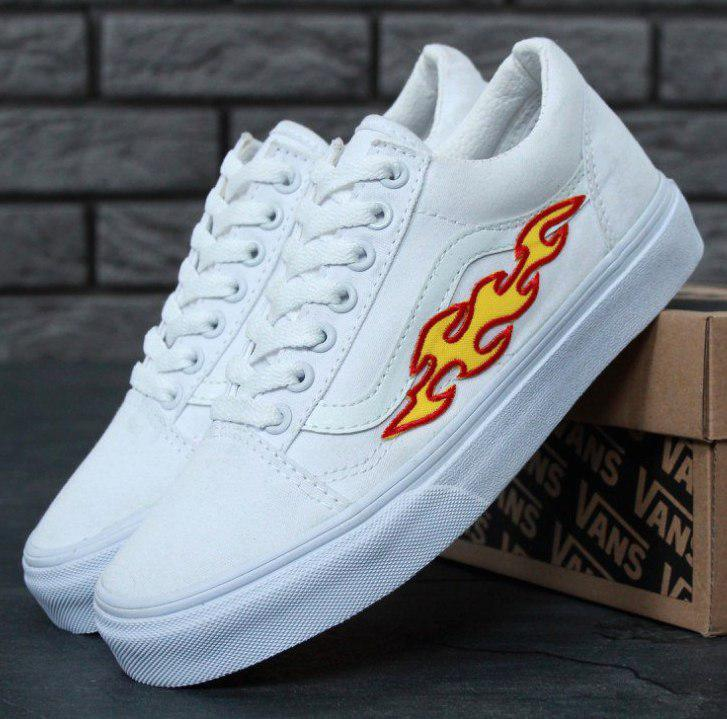 Кеды Vans Old Skool Art Flames Топ реплика, (унисекс), vans old school, ванс олд скул, кеды венс