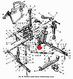 Кронштейн циліндра ЮМЗ-6, Д-65 задня навіска, фото 5