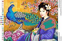 """Схема для вышивки бисером """"Японська  красуня"""""""
