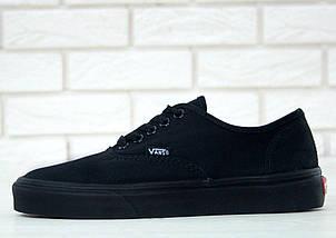 Кеды Vans AUTHENTIC All Black, (унисекс), вансы, венсы, фото 3