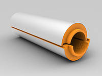 Скорлупа из пенополиуретана  фольгированная фоларом для теплоизоляции труб    Ø 25/40 мм