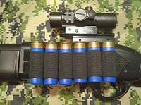 BML СайдСеддл (SideSaddle) BML – патронташ на ствольную коробку для дробовика 12 калибра из мягких материалов (ткань) - на 4,5,6,7 или 8 патронов (на
