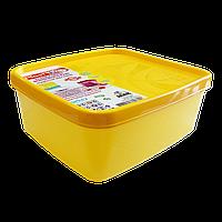 Бокс для морозильной камеры 0,65 л узкий Alaska желтый, фото 1
